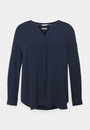 BLOUSE WITH PLEAT DETAIL - Blouse - sky captain blue