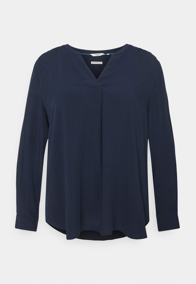 BLOUSE WITH PLEAT DETAIL - Camicetta - sky captain blue