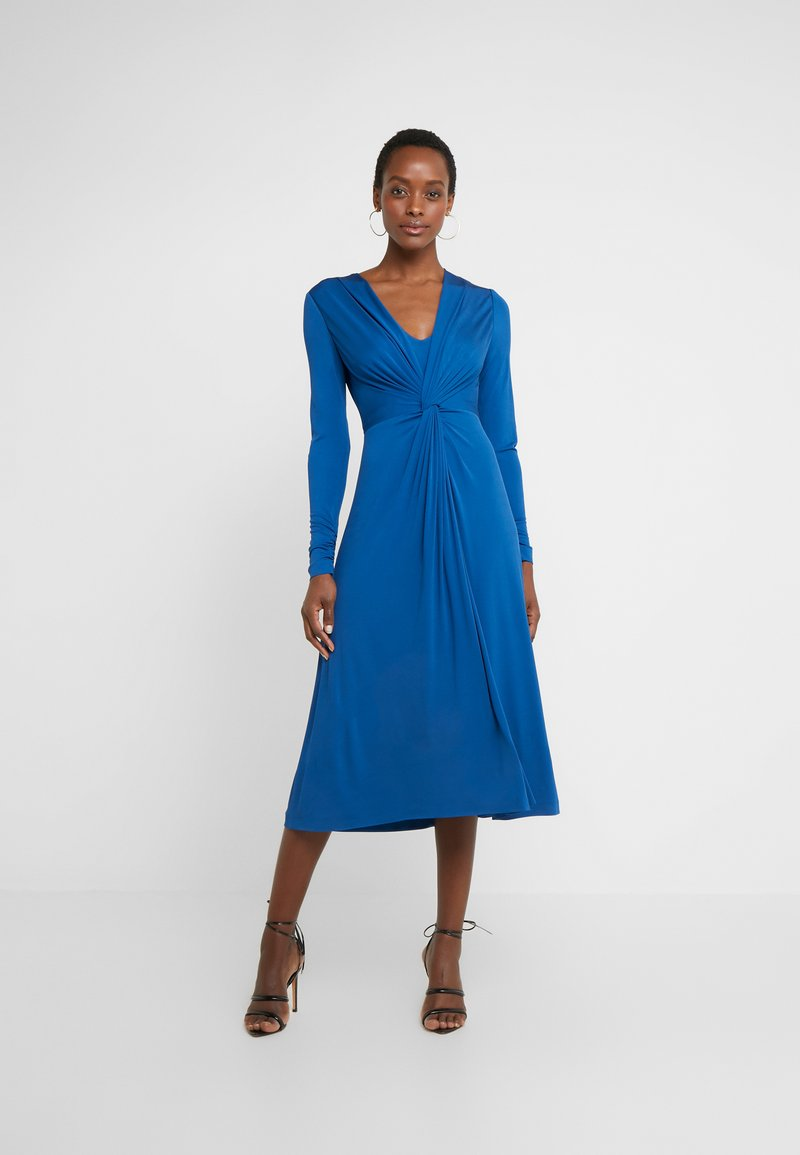 Escada - DAHLIAS - Vestito di maglina - patchouli blue