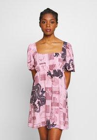 NEW girl ORDER - FANTASY MINI SMOCK DRESS - Day dress - pink - 0