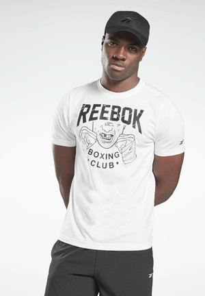 REEBOK BOXING CLUB T-SHIRT - Print T-shirt - white