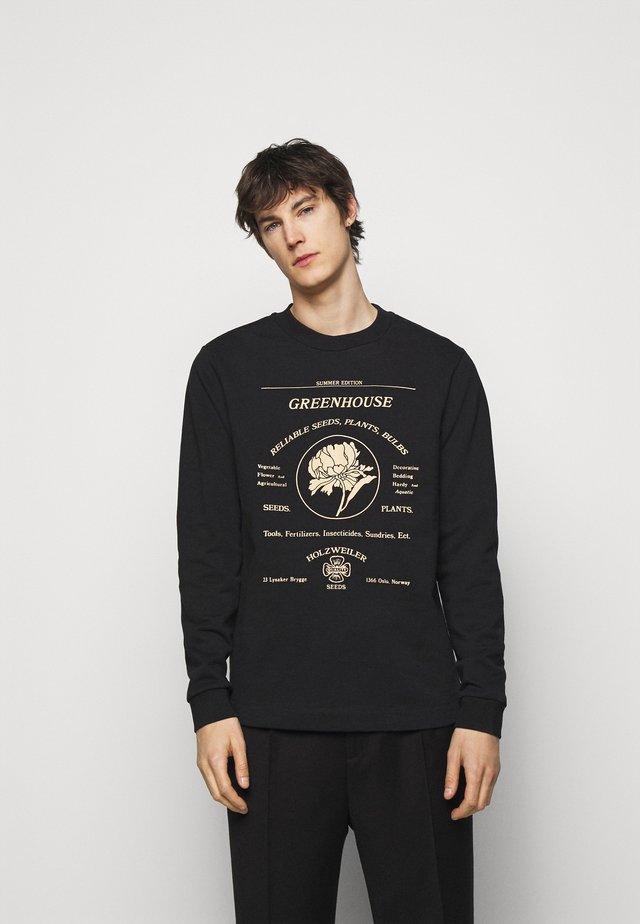SUNDRIES PRINT CREW - Sweater - black