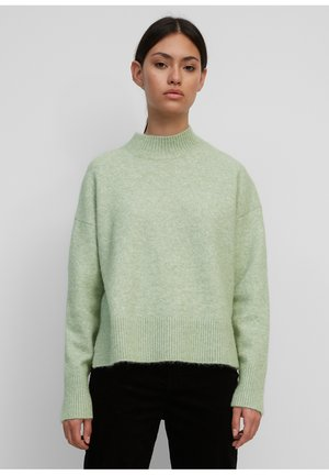 LONG SLEEVE HIGH NECK AND DROPPED SHOULDER - Jumper - pistachio gray