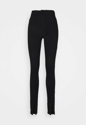 NMCALLIE SLIT DETAIL - Jeans Skinny Fit - black denim