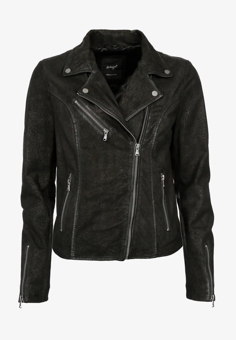 Maze - Leather jacket - black