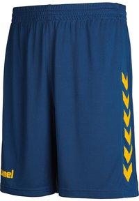 Hummel - Sports shorts - true blue/sports yellow - 2