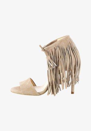 NEBBIONE - High heeled sandals - beige