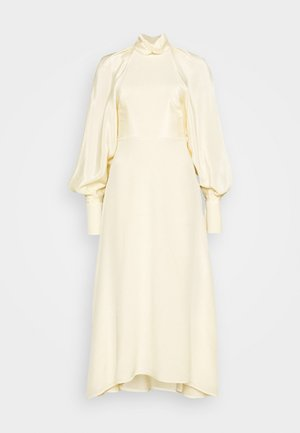 DRAPED SLEEVE DRESS - Maxikjole - cream