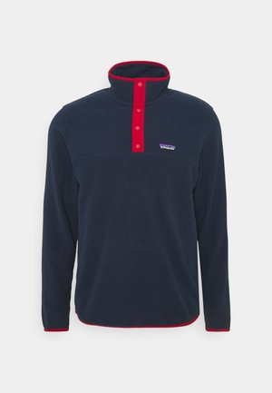 MICRO SNAP - Fleece jumper - new navy/classic red