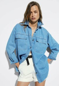 Massimo Dutti - Button-down blouse - blue - 0