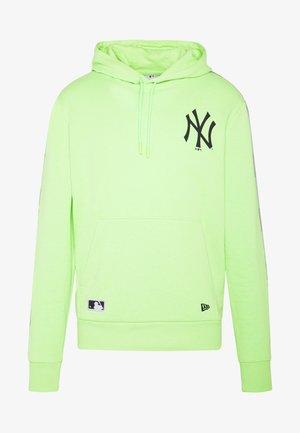 MLB TAPING HOODY NEW YORK YANKEES - Club wear - light green