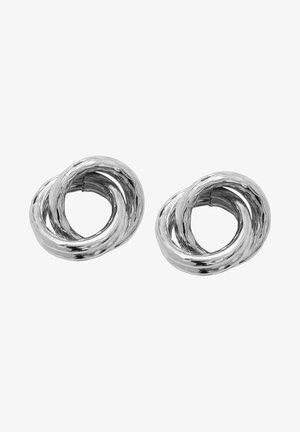 VERSCHLUNGENE - Earrings - silver colour