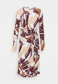 Bally - PRINTED DRESS - Sukienka z dżerseju - white/brown - 4
