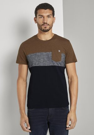 Print T-shirt - brown oak