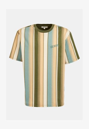 STREIFENMUSTER - T-Shirt print - mehrfarbig, grün