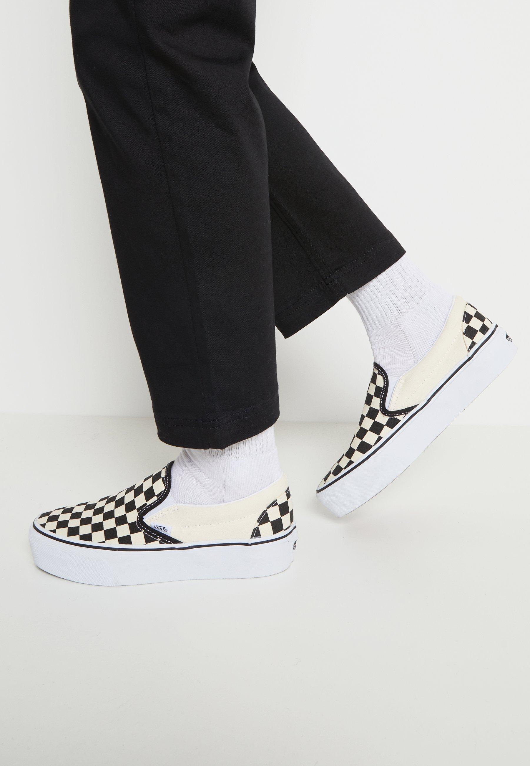 Women CLASSIC PLATFORM - Slip-ons - black/white