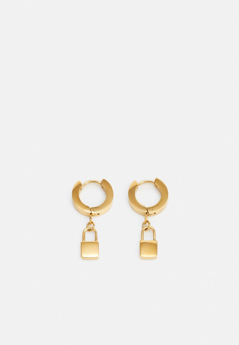 Nialaya - PADLOCK EARRINGS UNISEX - Kolczyki - gold-coloured
