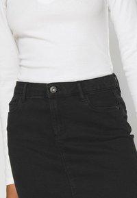 ONLY - ONLAMAZE SKIRT BOX - Mini skirt - black denim - 4