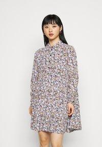Pieces Petite - PCINIS DRESS - Shirt dress - black/blue - 7
