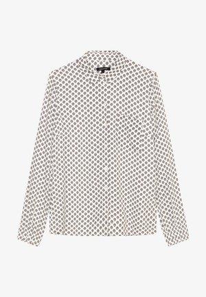Button-down blouse - multi/off white