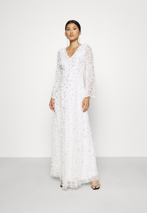 ALL OVER EMBELLISHED CUT OUT BACK - Occasion wear - white