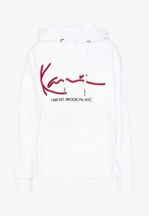 SIGNATURE HOODIE - Mikina s kapucí - white/red