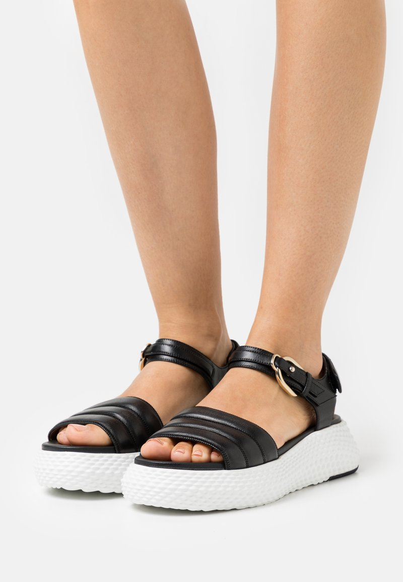 Emporio Armani - Platform sandals - black