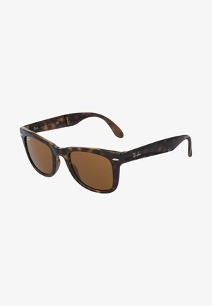 FOLDING WAYFARER - Zonnebril - black/brown