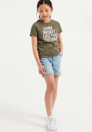 MET GLITTEROPDRUK - Print T-shirt - army green