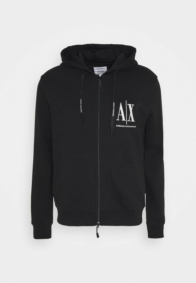 Armani Exchange - Mikina na zip - black
