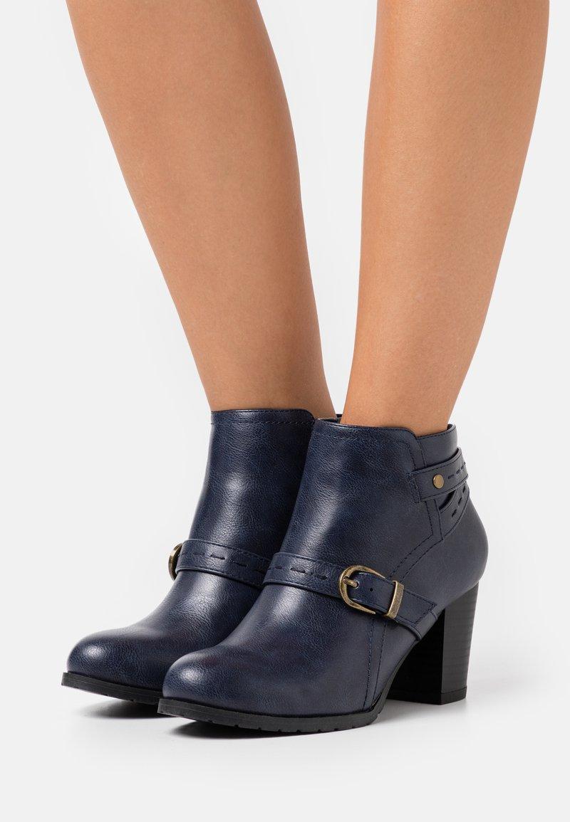 Wallis Wide Fit - WIDE FIT WANDERSON - Ankle boots - blue