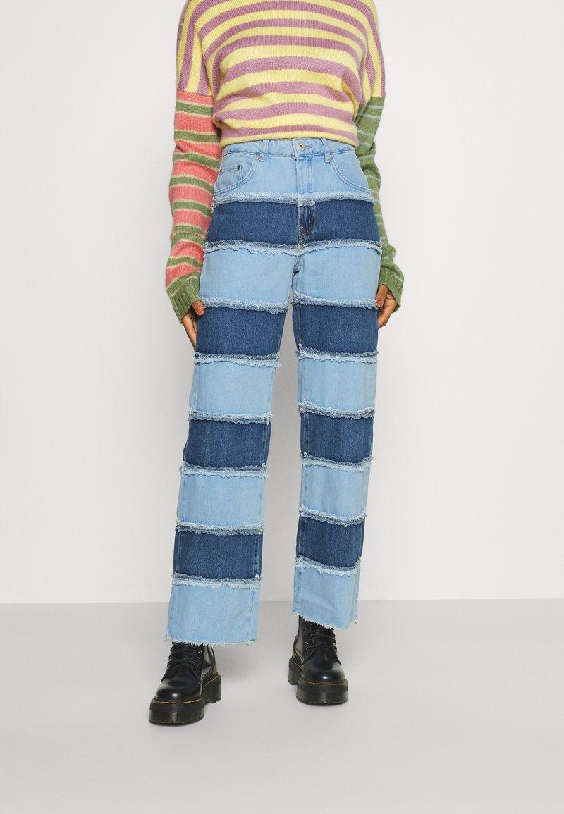 The Ragged Priest - STRIPE PANEL DAD  - Jeans straight leg - blue