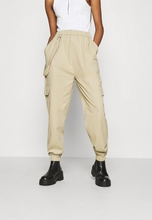 RING STRAP CARGO PANT - Cargo trousers - beige