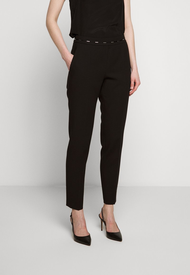 HUGO - HAZENA - Trousers - black