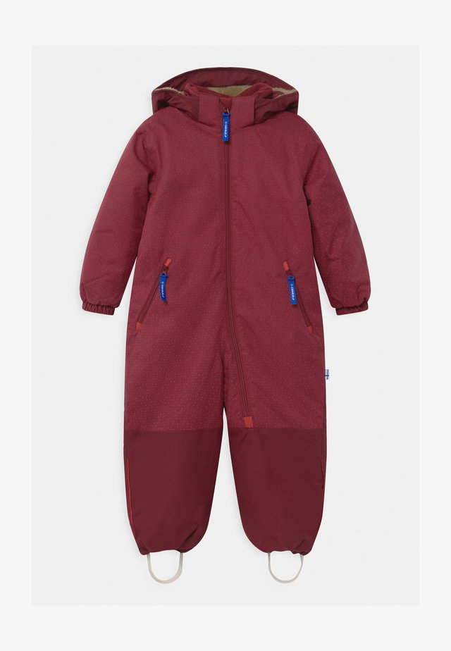 TURVA ICE UNISEX - Snowsuit - persian red/cabernet