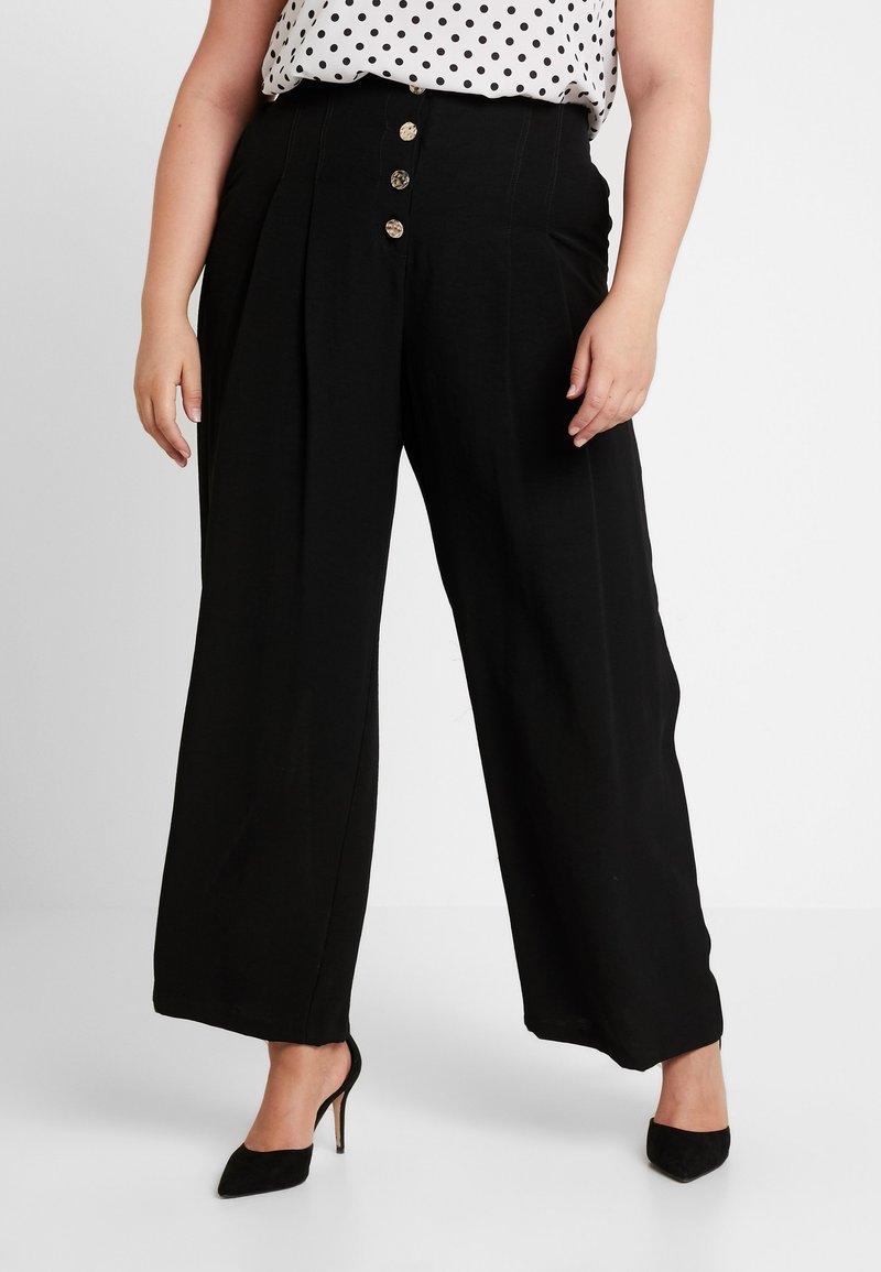 River Island Plus - Trousers - black