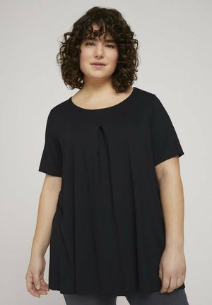 WITH PLEAT AT FRONT - T-shirt basique - deep black