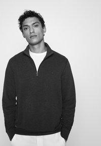 Polo Ralph Lauren - JERSEY QUARTER-ZIP PULLOVER - Sweatshirt - spring navy heather - 3