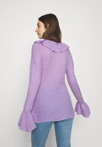 Who What Wear - RUFFLE - Jumper - lavender - 2