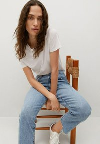 Mango - Straight leg jeans - medium blue - 5