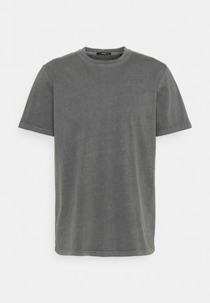 BAND TEE - Basic T-shirt - graphite grey