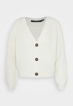 VMLEA LS V NECK CARDIGAN - Strickjacke - birch