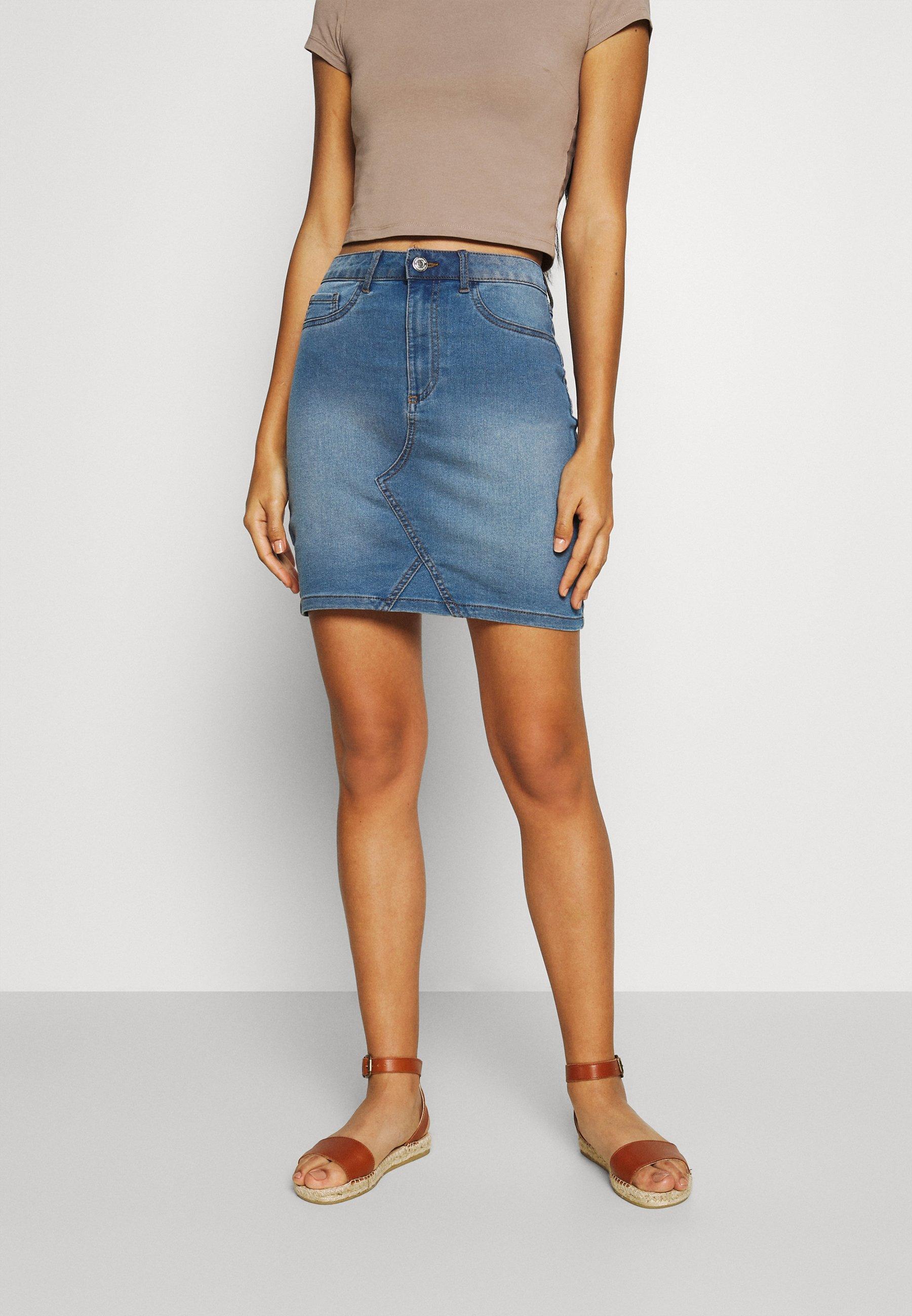 Femme VIINES ANA SHORT SKIRT - Jupe en jean
