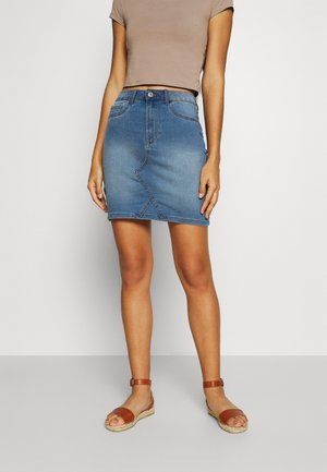 VIINES ANA SHORT SKIRT - Denim skirt - light blue denim