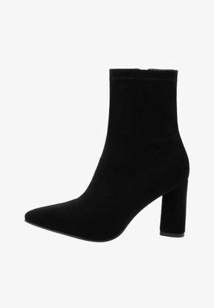 TEZZELI  - Kotníková obuv na vysokém podpatku - black