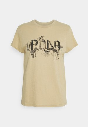 T-shirt con stampa - dune tan