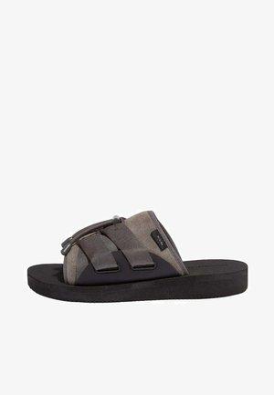 Mules - charcoal grey