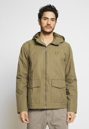 DOUBLE POCKET JACKET - Summer jacket - lichen green
