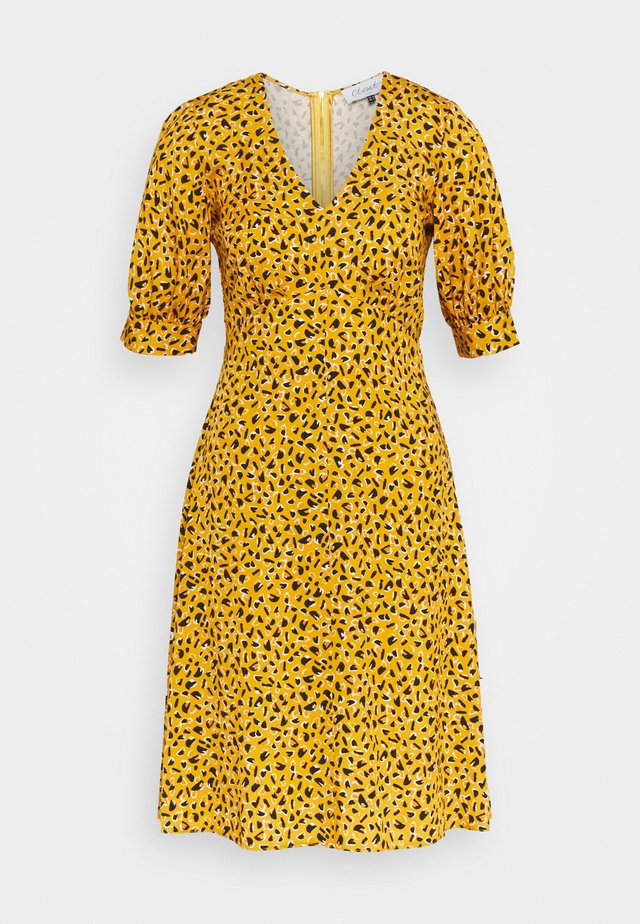 CLOSET PUFF SLEEVE VNECK DRESS - Day dress - mustard