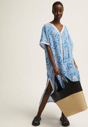 Korte jurk - azur blue print